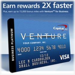 Venture Card Equals Faster Business Rewards